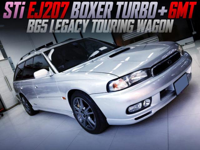 STi EJ207 BOXER ENGINE and 6MT INTO BG5 LEGACY TOURING WAGON.