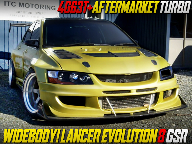 WIDEBODY AND AFTERMARKET TURBO INTO CT9A EVO 8 GSR.