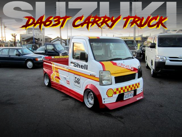 SHELL COLOR And HELLO SPECIAL WIDEBODY OF DA63T SUZUKI CARRY TRUCK.