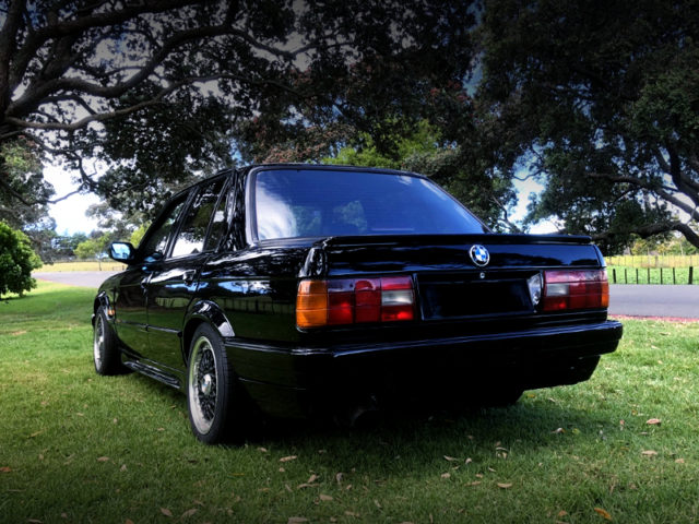 REAR EXTERIOR OF BMW 318i TO BLACK.
