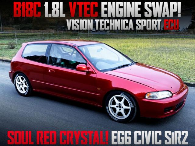B18C VTEC ENGINE SWAPPED EG6 CIVIC HATCH SiR2.
