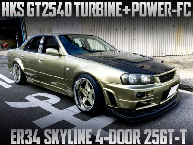 RB25DET with GT2540 and POWER-FC INTO ER34 SKYLINE 4-DOOR SEDAN.