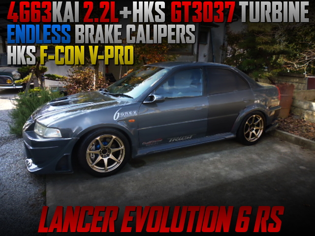 4G63 2.2L STROKER KIT and GT3037 TURBO INTO EVO6 RS.