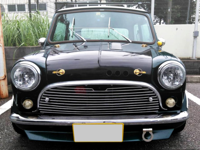 FRONT FACE OF CLASSIC MINI TO GREEN.