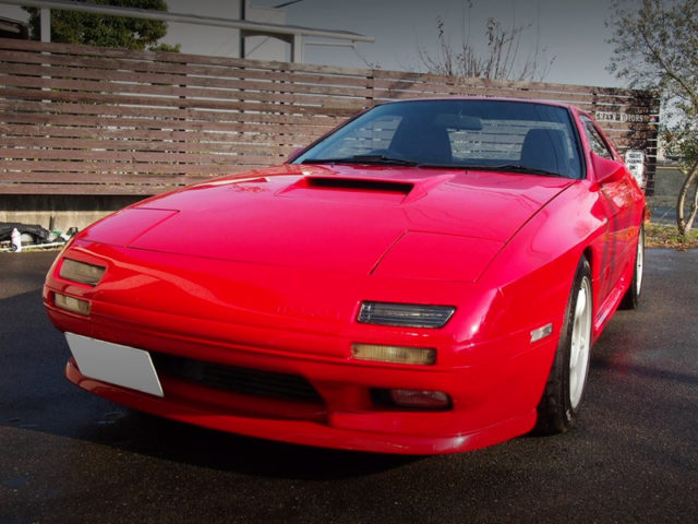 FRONT EXTERIOR OF FC3S RX7 GTX TO RED.