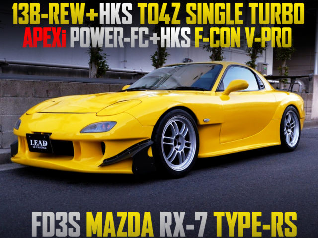RE AMEMIYA WIDEBODY And TO4Z TURBO OF FD3S RX-7 TYPE-RS TO YELLOW.
