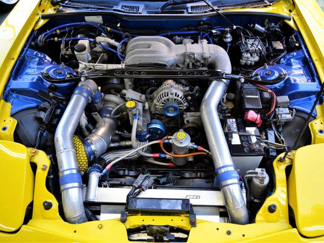 TO4Z SINGLE TURBOCHARGED 13B-REW ROTARY ENGINE.