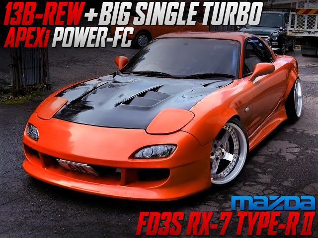 13B-REW to SINGLE TURBO CONVERSION with FD3S RX-7 TYPE-R2 WIDEBODY.