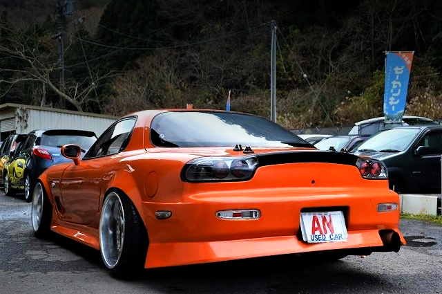 REAR EXTERIOR OF FD3S RX7 TYPE-R2 WIDEBODY.
