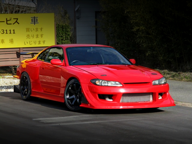 FRONT EXTERIOR OF S15 SILVIA SPEC-R WIDEBODY.