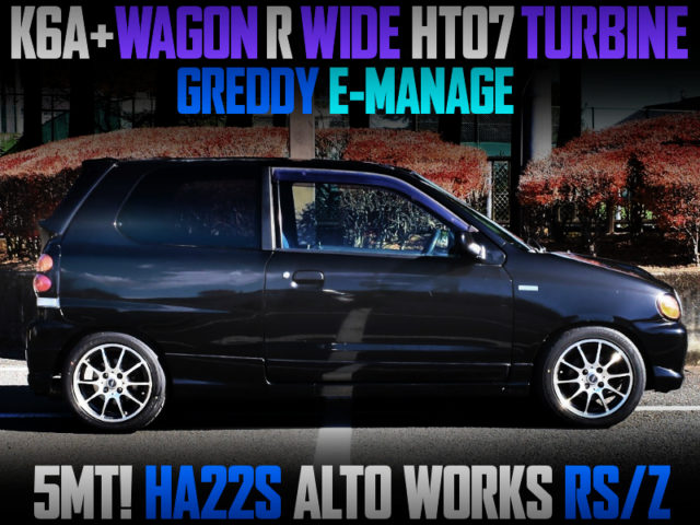 WAGON R WIDE HT07 TURBOCHARGED HA22S ALTO WORKS RSZ.