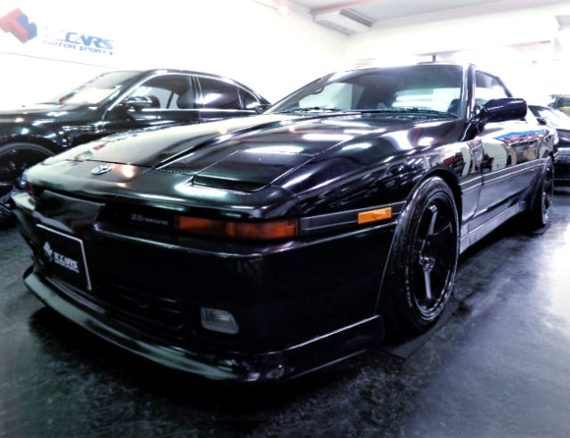 FRONT EXTERIOR OF JZA70 SUPRA 2.5GT TWIN TURBO R TO BLACK.