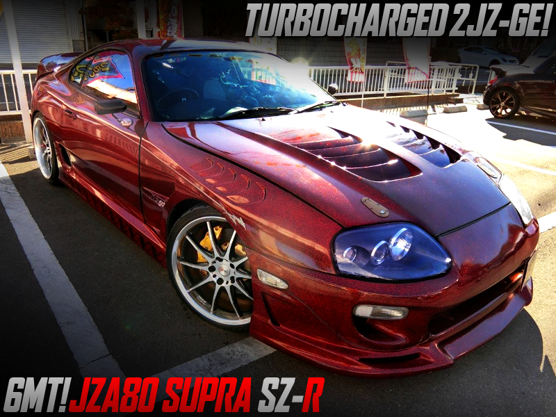 2JZ-GE with TURBO into JZA80 SUPRA SZ-R.