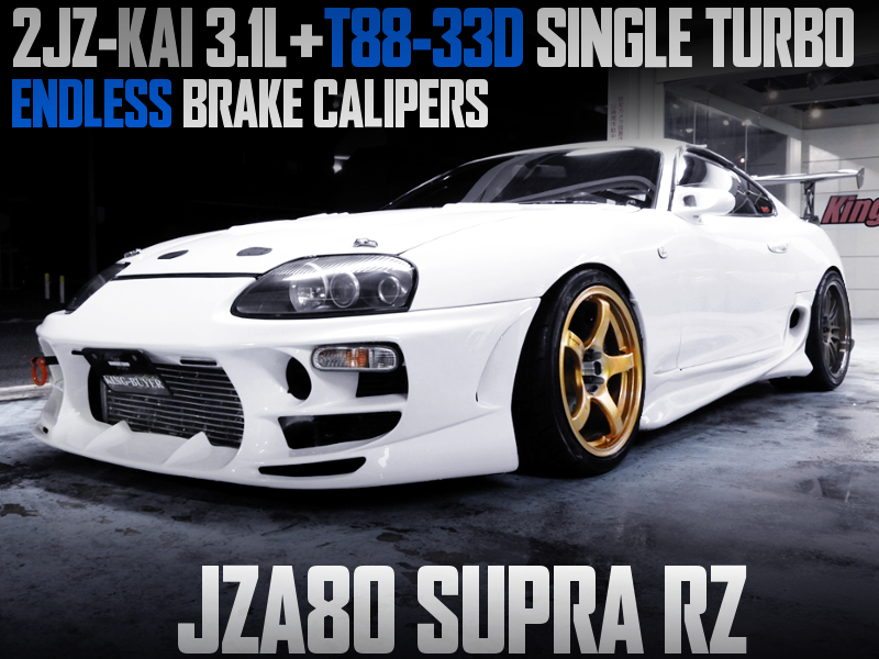 2JZ 3.1L with T88-33D SINGLE TURBO INTO JZA80 SUPRA RZ.