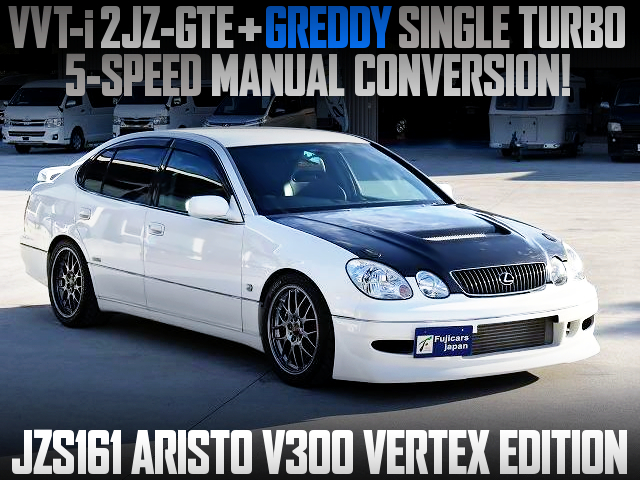 2JZ SINGLE TURBO AND 5MT INTO JZS161 ARISTO V300 VERTEX ED.