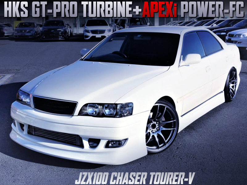 HKS GT-PRO TURBINE and POWER-FC INTO JZX100 CHASER TOURER-V.