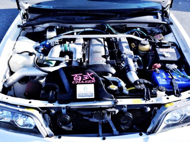 VVT-i 1JZ-GTE HKS GT-PRO TURBO ENGINE.