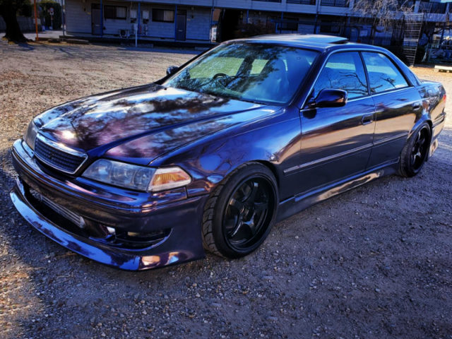 FRONT EXTERIOR OF JZX100 MARK2 PURPLE.