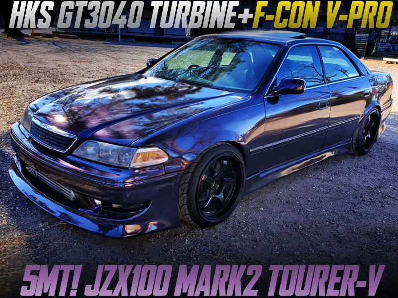 GT3040 TURBO and F-CON V-PRO INTO JZX100 MARK2 TOURER-V TO PURPLE.