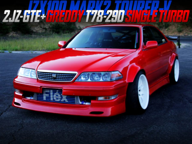 2JZ with T78-29D TURBO INTO JZX100 MARK2 TOURER-V TO RED PAINT.