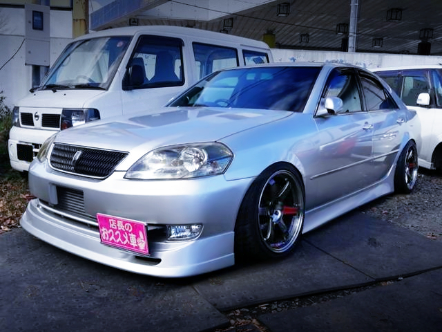 FRONT EXTERIOR OF JZX110 MARK2 GRANDE iR-V to SILVER.