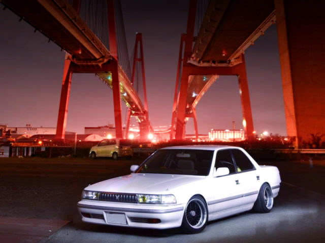 FRONT EXTERIOR OF JZX81 CRESTA TO WHITE.