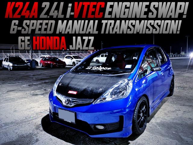 K24A 2.4L i-VTEC ENGINE and 6MT SWAPPED GE HONDA JAZZ TO JDM FIT.