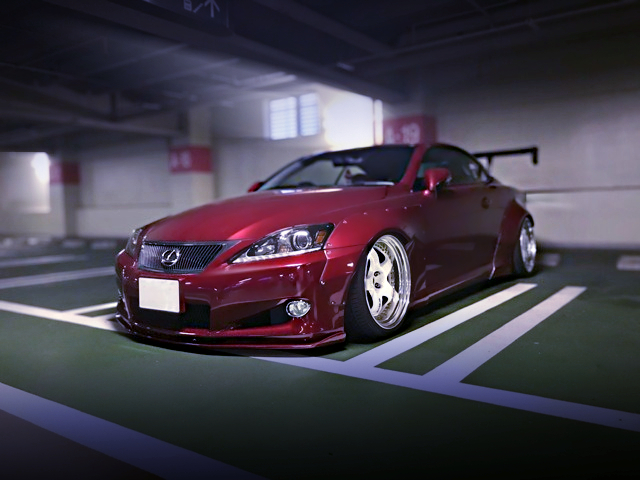 FRONT LEXON and ROCKET BUNNY WIDEBODY to GSE21 LEXUS IS 350C CONVERTIBLE.