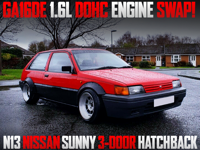 GA16DE 1.6L DOHC ENGINE SWAPPED N13 SUNNY HATCH TO JDM PULSAR.