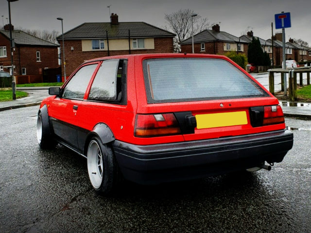 REAR EXTERIOR OF N13 SUNNY HATCH TO JDM PULSAR.