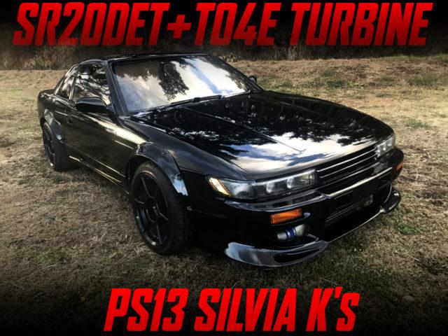 SR20DET with TO4E TURBINE INTO PS13 SILVIA WIDEBODY.