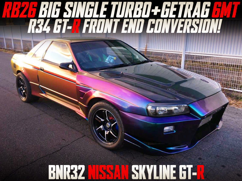 RB26 SINGLE TURBO with GRTRAG 6MT INTO R32 GT-R TO R34 GT-R FRONT END CONVERSION.