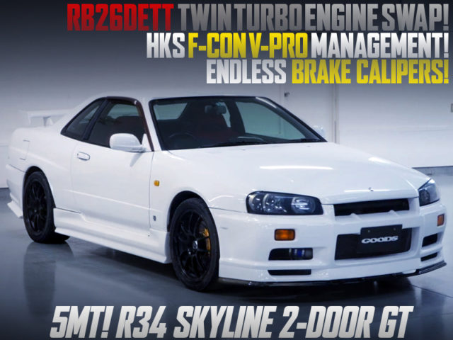RB26 SWAP and F-CON V-PRO INTO R34 SKYLINE 2-DOOR GT To WHITE.