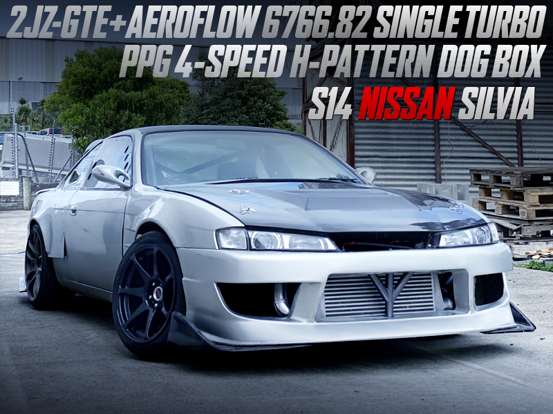 2JZ-GTE SINGLE TURBO and PPG DOG BOX INTO S14 SILVIA.