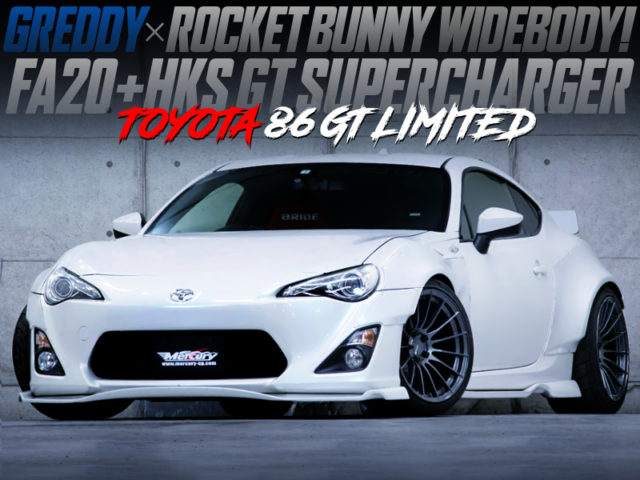 HKS GT SUPERCHARGER And ROCKET BUNNY WIDEBODY OF TOYOTA 86 GT LIMITED.