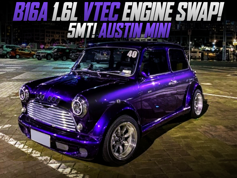 B16A VTEC SWAPPED AUSTIN MINI TO PURPLE.