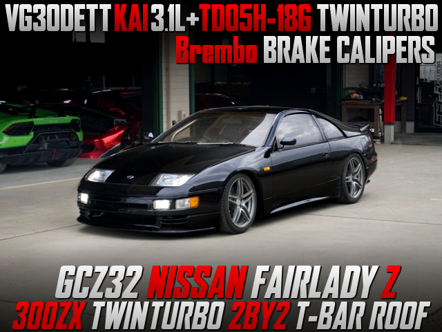 3.1L STROKED VG30DETT with TD05H-18G TWINTURBO INTO GCZ32 FAIRLADY-Z.