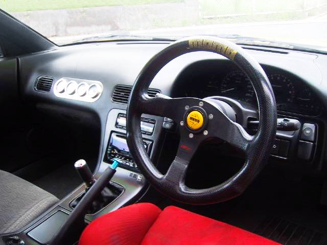 DASHBOARD OF 180SX TYPE-X GOLD PAINT.