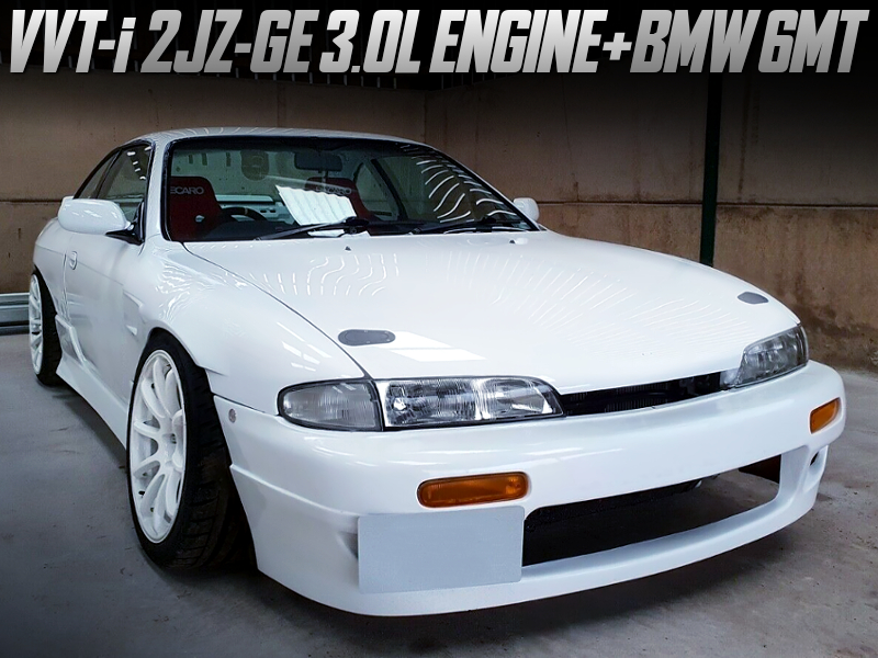 2JZ-GE ENGINE and BMW 6MT SWAPPED S14 ZENKI 200sx.