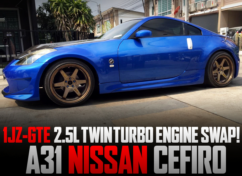 A31CEFIRO TO Z33 350Z CONVERSION with 1JZ-GTE TWINTURBO SWAP.