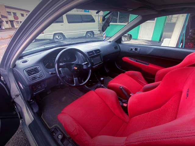 INTERIOR OF 2nd Gen CIVIC COUPE.