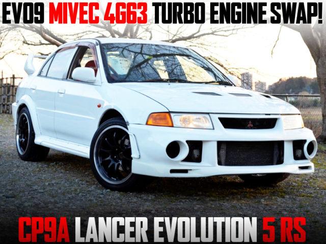 EVO9 MIVEC 4G63 TURBO ENGINE SWAPPED LANCER EVOLUTION 5 RS.