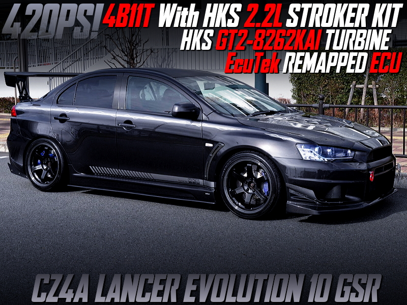 4B11T with 2.2L and GT2-8282KAi TURBO INTO CZ4A EVO 10 GSR.