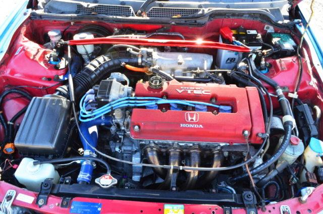 SPOON BLUIT B18C VTEC ENGINE.