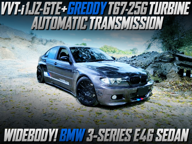 VVTi 1JZ-GTE with T67-25G SINGLE TURBO and AT INTO a BMW 3-SERIES E46 SEDAN WIDEBODY.