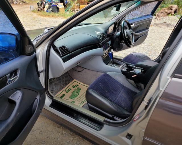 INTERIOR OF BMW E46 SEDAN.