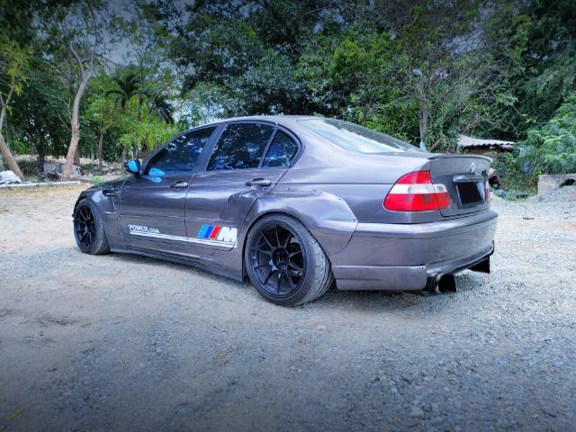 REAR SIDE EXTERIOR OF BMW 3-SERIES E46 SEDAN WIDEBODY.