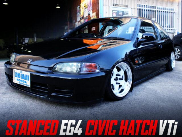 STANCED EG4 CIVIC HATCH VTi.