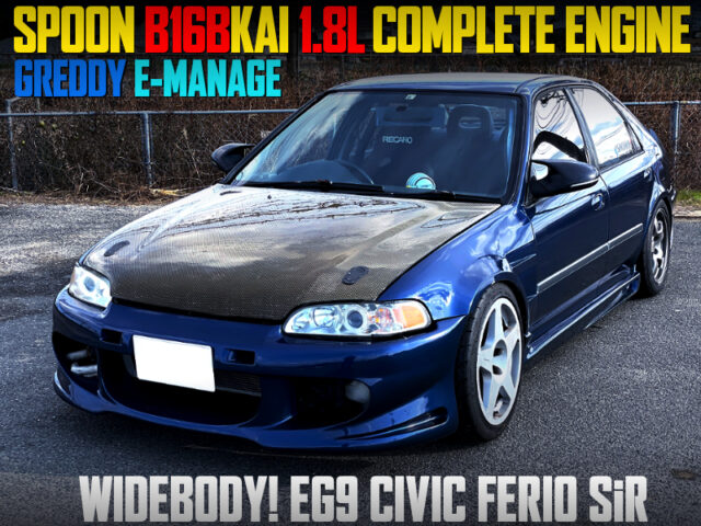 SPOON B16B 1.8L COMPLETE ENGINE INTO EG9 CIVIC FERIO WIDEBODY.