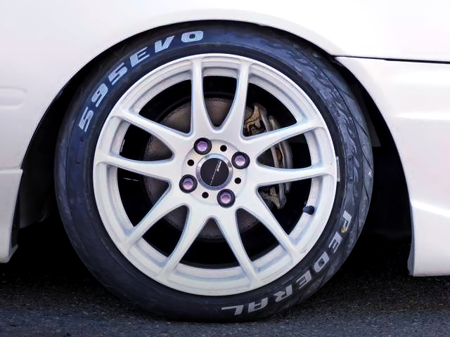 FEDERAL 595EVO TIRE with WHITE TIRE LETTER.